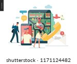 business series   contacts  ... | Shutterstock .eps vector #1171124482