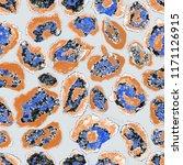 watercolor leopard skin pattern.... | Shutterstock . vector #1171126915