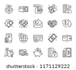 money line icons. set of update ... | Shutterstock .eps vector #1171129222