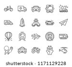 transport line icons. set of... | Shutterstock .eps vector #1171129228