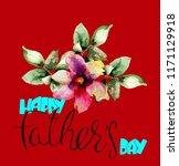 original gerber flower with ...   Shutterstock . vector #1171129918