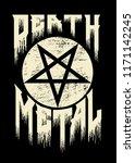 death metal   pentagram... | Shutterstock .eps vector #1171142245