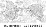 coloring pages. coloring book... | Shutterstock .eps vector #1171145698