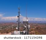 radio communications tower on... | Shutterstock . vector #1171154398