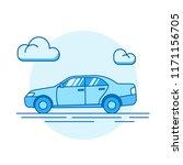 outline illustration of a car.... | Shutterstock .eps vector #1171156705