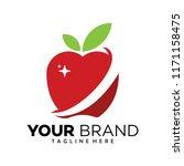 apple logo design | Shutterstock .eps vector #1171158475