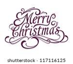 merry christmas vector... | Shutterstock .eps vector #117116125