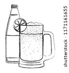 jar beer with bottle drink icon | Shutterstock .eps vector #1171161655