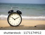 concept using bell clock on the ...   Shutterstock . vector #1171174912