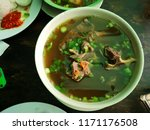 meat soup for lunch   Shutterstock . vector #1171176508