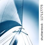 sailboat in action  big white... | Shutterstock . vector #117117775
