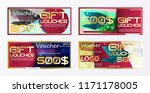 gift voucher gold template... | Shutterstock .eps vector #1171178005