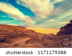 view from masada at valley in... | Shutterstock . vector #1171179388