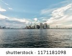 manhattan island   new york city | Shutterstock . vector #1171181098