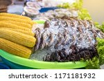 many sea crabs are fastened... | Shutterstock . vector #1171181932