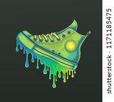 vector color sneaker... | Shutterstock .eps vector #1171185475