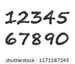 black numbers on an isolated... | Shutterstock .eps vector #1171187245