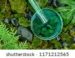 scientist pouring organic... | Shutterstock . vector #1171212565