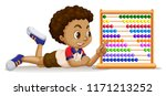 boy with an abacus illustration   Shutterstock .eps vector #1171213252