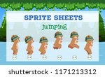 sprite sheets bear jumping... | Shutterstock .eps vector #1171213312