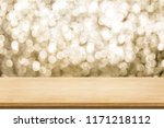 empty old rustic wood table top ... | Shutterstock . vector #1171218112