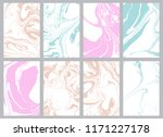 set of trendy pastel color... | Shutterstock .eps vector #1171227178