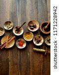 many kinds of spices | Shutterstock . vector #1171228942