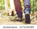 hiking trail path in action on... | Shutterstock . vector #1171234285