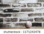 baseball ball and brick... | Shutterstock . vector #1171242478
