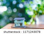 green blur background and... | Shutterstock . vector #1171243078