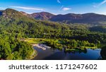 Drone Aerial Of Lake Lure In...