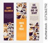 set of happy halloween banner... | Shutterstock .eps vector #1171262752