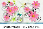 abstract flowers with circles...   Shutterstock . vector #1171266148