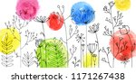 vector background with doodle... | Shutterstock .eps vector #1171267438