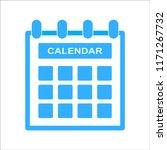 calendar icon blue color | Shutterstock .eps vector #1171267732