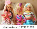 a beautiful barbie with a long... | Shutterstock . vector #1171271278
