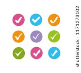 colorful check marks | Shutterstock .eps vector #1171273102