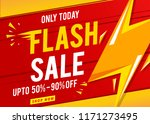 flash sale banner template red | Shutterstock .eps vector #1171273495