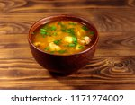 kharcho soup with meat and rice ... | Shutterstock . vector #1171274002