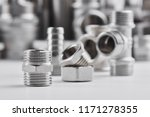 concept of plumbing tools and... | Shutterstock . vector #1171278355