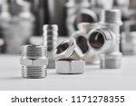 concept of plumbing tools and... | Shutterstock . vector #1171278355
