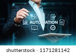 automation software technology... | Shutterstock . vector #1171281142
