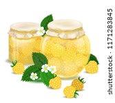 raspberry jam. blackberry jam.... | Shutterstock .eps vector #1171283845