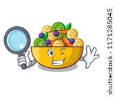 detective cartoon bowl healthy... | Shutterstock .eps vector #1171285045