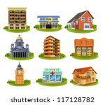 various buildings | Shutterstock .eps vector #117128782