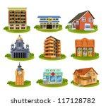various buildings | Shutterstock .eps vector #117128782