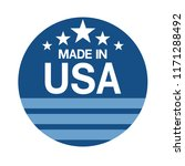 made in usa sign vector | Shutterstock .eps vector #1171288492