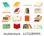icons of books vector set in a... | Shutterstock .eps vector #1171289995