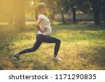 she has reached the goals of...   Shutterstock . vector #1171290835