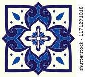 portuguese tile pattern vector... | Shutterstock .eps vector #1171291018